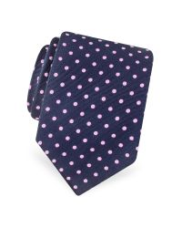 FORZIERI - Blue Gold Line Polkadot Woven Silk Tie for Men - Lyst