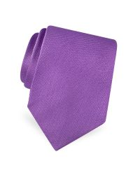 FORZIERI | Purple Gold Line Solid Woven Silk Tie for Men | Lyst