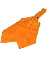 FORZIERI | Orange Solid Color Pure Silk Ascot for Men | Lyst
