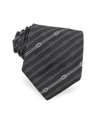 Gucci - Black Rope Pattern Jacquard Silk Tie for Men - Lyst