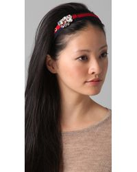 Juicy Couture - Red Cluster Gemstone Headband - Lyst