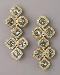 kate spade new york - Black Pave Crystal Chandelier Earrings - Lyst