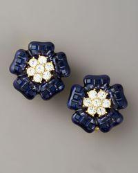 kate spade new york - Blue Carroll Gardens Clip Earrings - Lyst