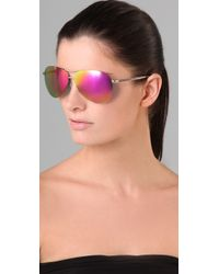 Marc By Marc Jacobs - Metallic Frameless Aviator Sunglasses - Lyst