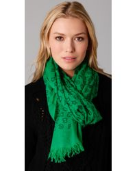 Marc By Marc Jacobs - Green Stardust Logo Scarf - Lyst