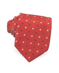 Moschino | Red Peace and Daisy Silk Tie for Men | Lyst