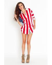 Nasty Gal | Red Americana Shirt | Lyst