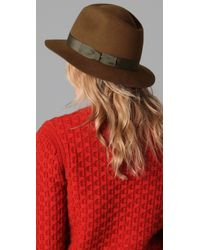 Rag & Bone - Brown Hampshire Fedora Hat - Chestnut - Lyst