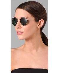 Ray-Ban | Metallic Retro Round Metal Sunglasses | Lyst