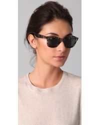 Ray-Ban - Gray Wayfarer Sunglasses - Lyst