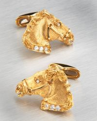 Stefano Ricci | Metallic Horse Cufflinks for Men | Lyst