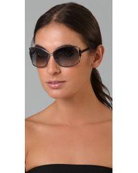 Tom Ford | Metallic Eugenia Sunglasses | Lyst
