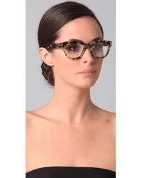 Tom Ford - Brown Square Glasses - Lyst