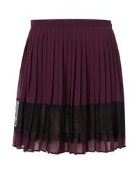 TOPSHOP | Purple Lace Pleated Skirt | Lyst