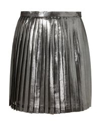 TOPSHOP | Premium Metallic Pleat Skirt | Lyst