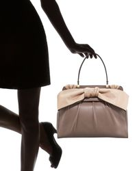 Valentino | Brown Aphrodite Bow Bag, Large | Lyst
