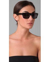 Saint Laurent   Black Square Sunglasses   Lyst