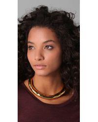 Alexis Bittar   Metallic Liquid Gold Collar   Lyst