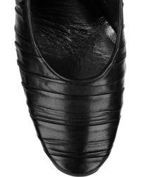 Calvin Klein - Black Gretchen Pleated Leather Pumps - Lyst