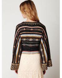 Free People | Multicolor Stripe Kimono Sweater | Lyst