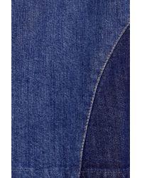 See By Chloé - Blue Patchwork Stretch-denim Skirt - Lyst