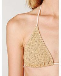 Free People - Metallic Shimmer String Bikini - Lyst
