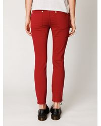 Free People | Red Soft Legging | Lyst