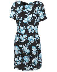 TOPSHOP | Blue Bright Floral Shift Dress | Lyst