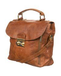 TOPSHOP | Brown Galaxy Leather Satchel Bag | Lyst