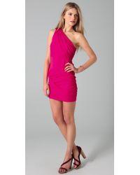 Alice + Olivia - Pink One Shoulder Goddess Dress - Lyst