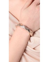 Made Her Think - Metallic Moonlit Pave Thorn Cuff - Lyst