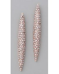 Made Her Think - Pink Pave Marquis Posts - Lyst