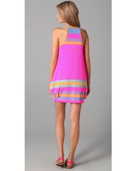 Marc By Marc Jacobs | Pink Cleo Print Racer Back Bubble Cover Up Dress | Lyst