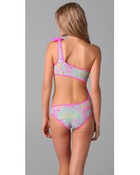 Marc By Marc Jacobs | Purple Mona Paisley Reversible Cutout Maillot | Lyst