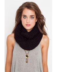 Nasty Gal | Infinity Knit Scarf - Black | Lyst