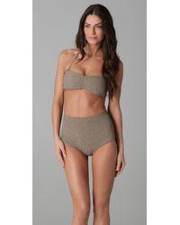 Tori Praver Swimwear | Gray Betty Bikini Top | Lyst