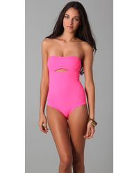 Zero + Maria Cornejo | Pink Oona Swimsuit | Lyst