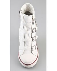 Ash - White Thelma Wedge Sneakers - Lyst