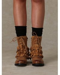 Free People - Brown All Ruffle Field Boot - Lyst