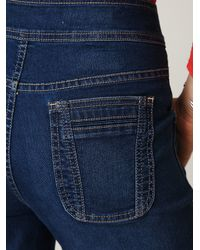 Free People - Blue High Waisted Zippered Wideleg Jean - Lyst