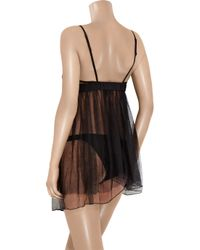 La Perla | Black Must Ingenue Babydoll And Briefs | Lyst