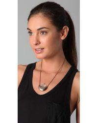 Pamela Love - Metallic Small Quartz Crystal Crescent Necklace - Lyst