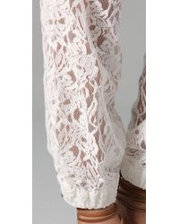Pencey - White Lace Pants - Lyst