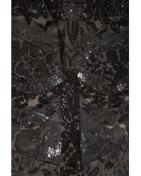 Alexander McQueen - Black Embellished Silk-tulle, Organza and Satin Dress - Lyst