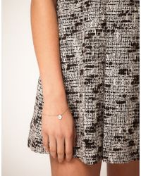 ASOS Collection - Metallic Asos L Mini Initial Pendant Bracelet - Lyst