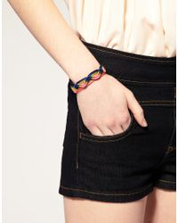 ASOS Collection - Multicolor Asos Rainbow Zig Zag Friendship Bracelet - Lyst