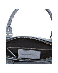 Balenciaga - Gray Grey Lambskin City Bag - Lyst