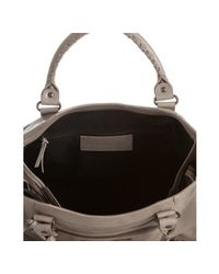 Balenciaga - Gray Grey Lambskin City Medium Satchel - Lyst