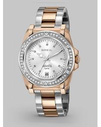 Breil | Metallic Lady Rose Ip Stainless Steel Bracelet Watch | Lyst