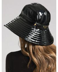 Eric Javits - Black Patent Rain Hat - Lyst